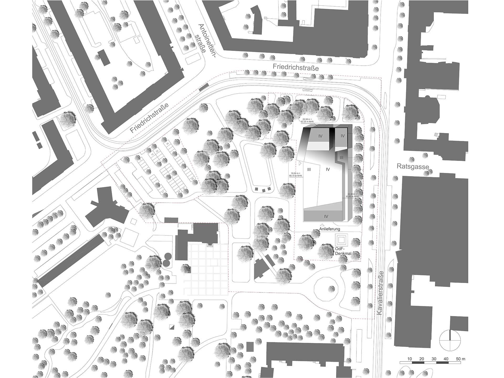 Bauhaus Museum Dessau Skizze