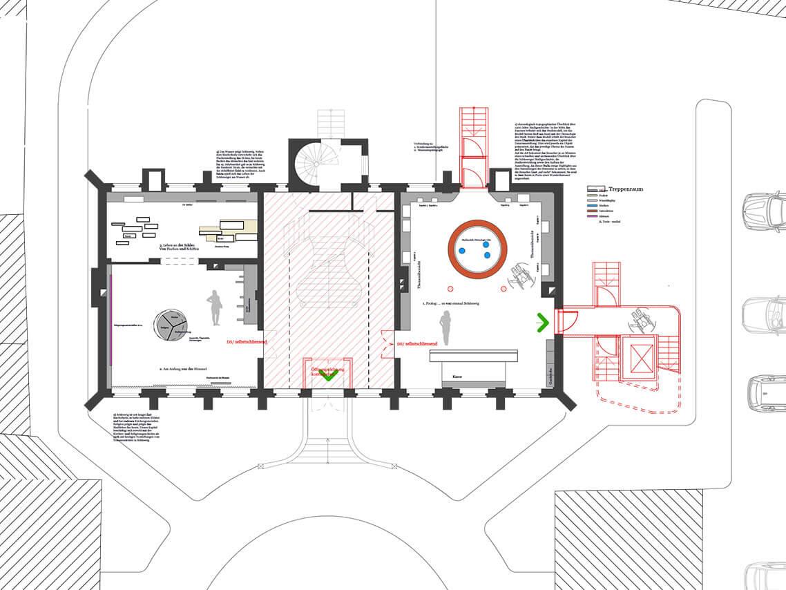 Sanierung Stadtmuseum Schleswig Grundriss (web)