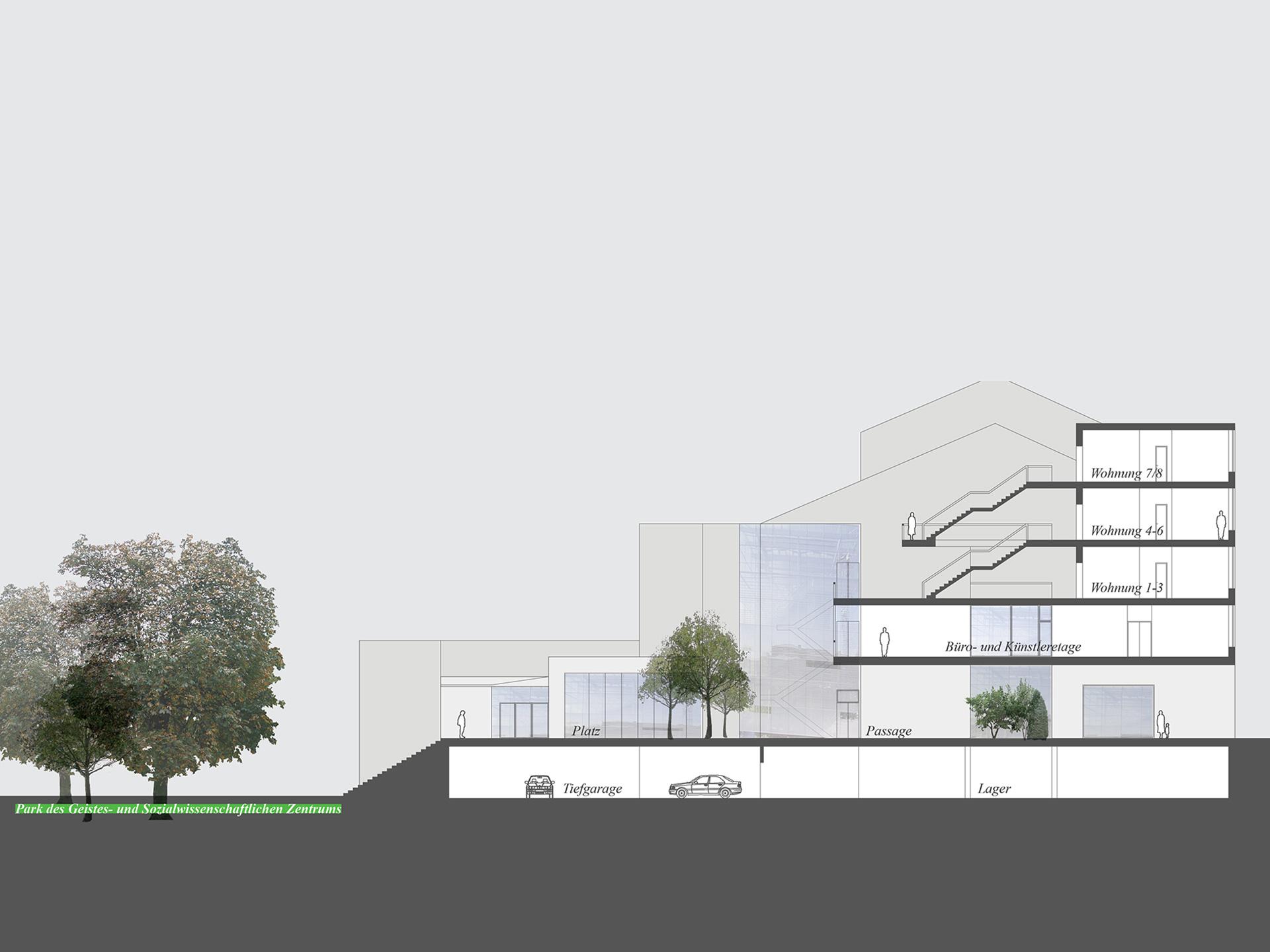 Steintorvariete Halle Schnitt