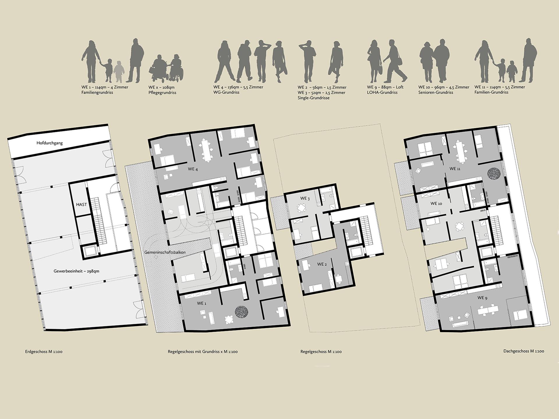 Wohnungsbau Oschersleben Grundrisse